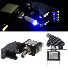 ON/OFF Carbon Fiber LED Blue Car Toggle Ignition Engine Rocket/Missile Switch