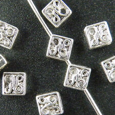 300pcs Tibetan Silver Little Square Spacer Beads Jewelry Making 5x5mm 139