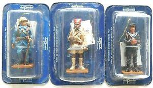 Old Del Prado 1980s Metal, British, Russian & Tirailleur On Foot 3 Boxed Figures