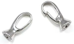Silver Tone Platinum Plated  Heavy Duty Strong Push-in Open Hook Eye Clasps