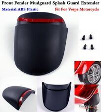 1Pc Black Motorcycle ABS Front Fender Mudguard Splash Guard Extender For Vespa