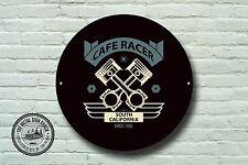 CAFE RACER métal signe, motard, vintage, moto, moto, Publicité, 976
