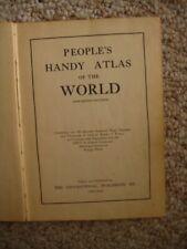 Vtge People's Handy Atlas of the World (1910 Census) Minneapolis Tribune Rare!