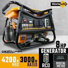 IKETA Petrol Generator 4200W Max Site Camping Portable Backup Power Supply