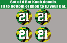 Baseball Softball Army Camo Bat Knob Decal Sticker