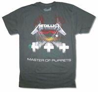 Metallica Master of Puppets Mens Grey T Shirt New Official Adult