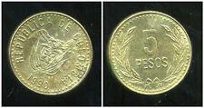 COLOMBIE 5 pesos 1990
