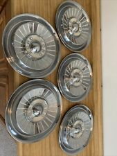 New Listing1957 Ford Fairlane Galaxie Hubcap Wheel Cover Hub Cap 14 Set Of 5 Oem Ford Used
