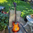Guild JS 1 1972 Bass, single pickup, Rare. Natural relic.