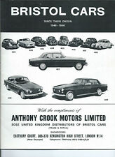 BROCHURE - BRISTOL CARS SINCE THEIR ORIGIN 1946-1966