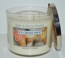 BATH & BODY WORKS ICE CREAM SHOP SCENTED CANDLE 3 WICK 14.5 OZ LARGE CONE HTF