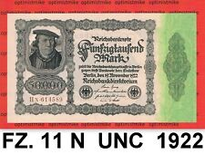(236) Ros.79 d ( FZ: 11 N ) 50 000 Mark UNC Pick 79 Germany Inflation 19.11.1922