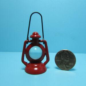 Dollhouse Miniature Red Metal Outdoor Lantern Non-Working IM65700