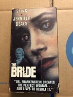 The Bride with Sting and Jennifer Beals - Good Conditions (VHS, 1985)