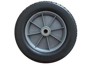FALLSHAW 300mm PU Polyurethane Black Rubber Diamond Tread Wheel Light Rim 110kg