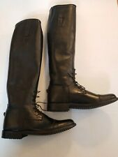 Copperfields New York Men's Black Leather Equestrian Field Boots Sz 8 L NEW