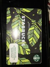 UK Starbucks Seattle 1971 Green Jungle Card Spring 2018 Leaf Style Coffee .6148.