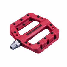 ROCKBROS Bicycle Bearing Pedals Mountain Road Bike Wide Nylon Bike Pedals Red