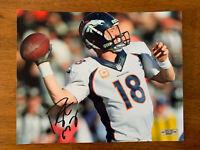 Peyton Manning Denver Broncos Hand Signed Autographed 8x10 Photo COA