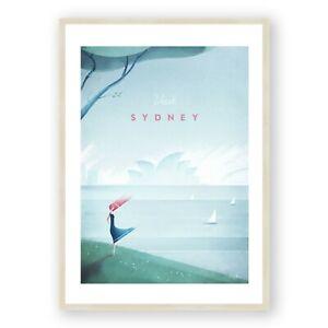 Sydney Travel Poster Framed Print, Vintage Wall Art, Australia, Opera House