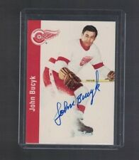 Johnny Bucyk Detroit Red Wings 1990's Parkhurst Signed Hockey Card W/Our COA B
