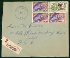Mayfairstamps Congo 1967 Kipiushi to US Registered Cover wwr27241