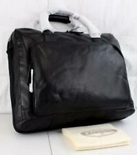 "FOSSIL 18"" CARSON TRAVEL BAG LEATHER CARRY ON BRIEF MBG9231001 BLACK"