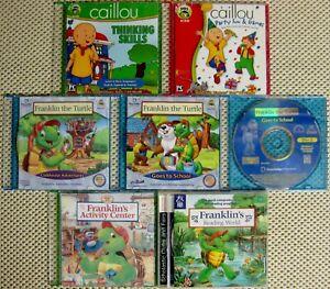 o'o'o . SET of KIDS Computer PROGRAMS . . CAILLOU -and- FRANKLIN the TURTLE