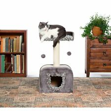 New listing Prevue Pet Products Kitty Power Paws Shag Hideaway Cat Tree grey