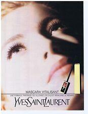 PUBLICITE ADVERTISING 094 1990 YVES SAINT LAURENT Mascara vitalisant