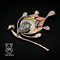 Flying Fairy Black Opal Enamel Diamond Pendant Necklace 18K Yellow Gold