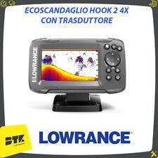 Ecoscandaglio LOWRANCE HOOK 2 4X con trasduttore per pesca NAUTICA GOMMONE BARCA