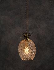 Glass pineapple Antique Brass ceiling light fitting Pendant Chandelier