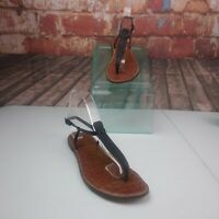 Sam Edelman Gigi T- Strap Sandals Size 9.5 Black Sparkle