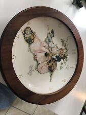 Norman Rockwell Flowers In Tender Bloom Wall Clock