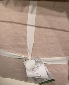 New POTTERY BARN Belgian Flax Linen Full Queen  Duvet & 2 Shams  Soft Rose