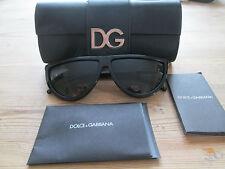 Dolce & gabbana black frame semi circulaire lunettes de soleil DG.. 4133 avec cas.