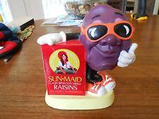 Vintage California Raisins rubber coin/piggy bank 1987 Sun Maid Applause VGUC!