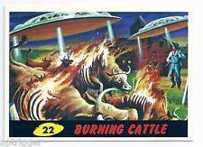 1994 Topps MARS ATTACKS Base Card # 22 Burning Cattle