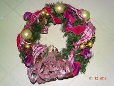 Winward silks  Christmas pine  Wreath angel  Glass Ornaments beautiful