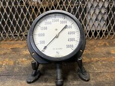 Industrial Steampunk Vintage Pressure Gage Project Lamp Decor