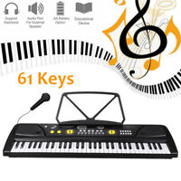 61 Key Full Size Electronic Piano Keyboard Electric LCD USB Input MP3 Music
