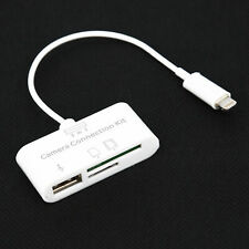USB SD Card Reader HUB For Apple IPad IPhone X/8/7/6/5 Camera Connection Kit New