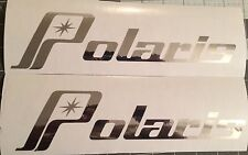 2 X LARGE Vintage Polaris decals in High Quality CHROME vinyl 22 inch sticker