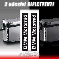 2 adesivi BMW MOTORRAD riflettenti stickers borse valige laterali GS R1200 R1250