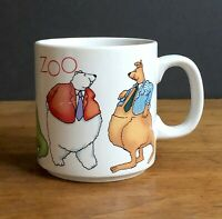 Vintage Russ Berrie This Place Is A Zoo Coffee Cup Mug Ceramic Korea C131