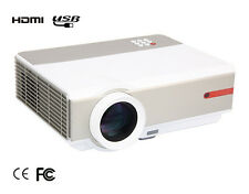US 3D 1080P FULL HD 5000 Lumens Home Theater USB HDMI Video Movie LED Projector