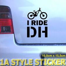 I Ride DH i conduzco downhill downhiller sticker deacl FR llantas horquilla fox 40 DH