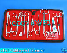 53 PC US MILITARY FIELD MINOR SURGICAL INSTRUMENTS KIT