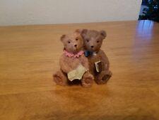 Bear Couple Reading Resin Figurine